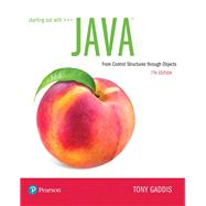 Starting Out with Java From...,Gaddis, Tony,9780135188637