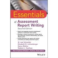 Essentials of Assessment...,Schneider, W. Joel;...,9781119218685