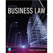 Business Law,Cheeseman, Henry R.,9780134728780