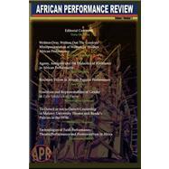 African Performance Review...,Okagbue, Osita,9781905068906
