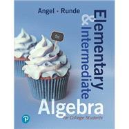 Elementary & Intermediate...,Angel, Allen R.; Runde, Dennis,9780134758947