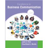 Excellence in Business...,Thill, John V.; Bovee,...,9780134319056