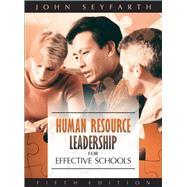Human Resource Leadership for...,Seyfarth, John T.,9780205499298