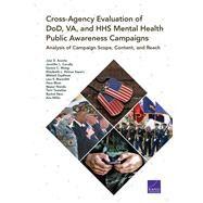 Cross-Agency Evaluation of DOD, VA, and HHS Mental Health Public Awareness Campaigns by Acosta, Joie D.; Cerully, Jennifer L.; Wong, Eunice C.; Sayers, Elizabeth L. Petrun; Zaydman, Mikhail, 9780833099365