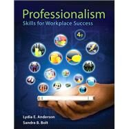 Professionalism Skills for...,Anderson, Lydia E.; Bolt,...,9780321959447
