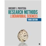 Research Methods for the Behavioral Sciences by Privitera, Gregory J., 9781544309811