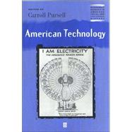 American Technology by Pursell, Carroll, 9780631219965
