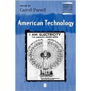 American Technology by Pursell, Carroll, 9780631219972